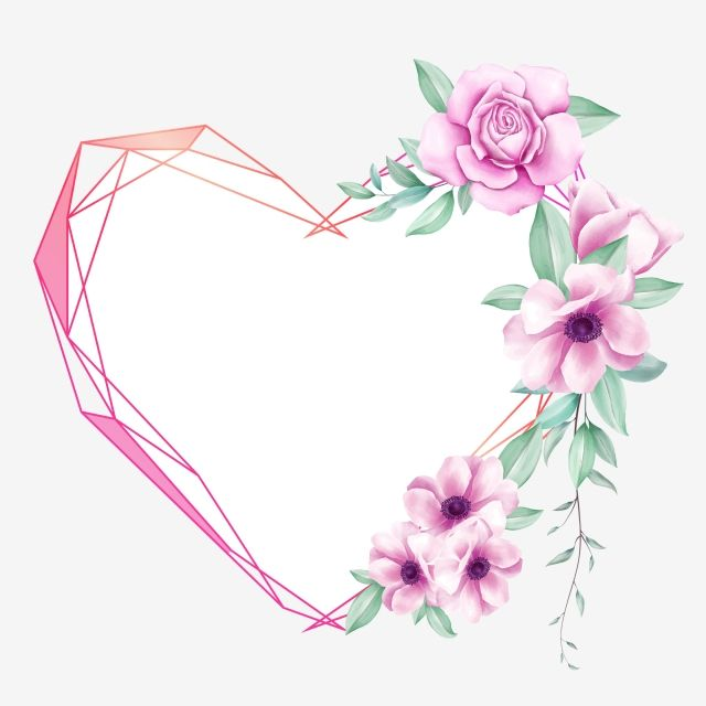 Creative Floral Heart Frame With Watercolor Flowers Purple Theme Watercolor Clipart Wedding Invitation Png Transparent Clipart Image And Psd File For Free Do Watercolor Flower Background Floral Border Design Watercolor Flowers