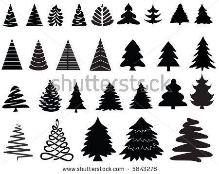 Vector Pine Trees Pine Tree Silhouette Christmas Tree Images Tree Illustration