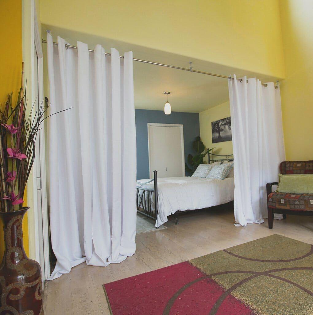 Wohnzimmer Und Schlafzimmer Vorhang Raumteiler