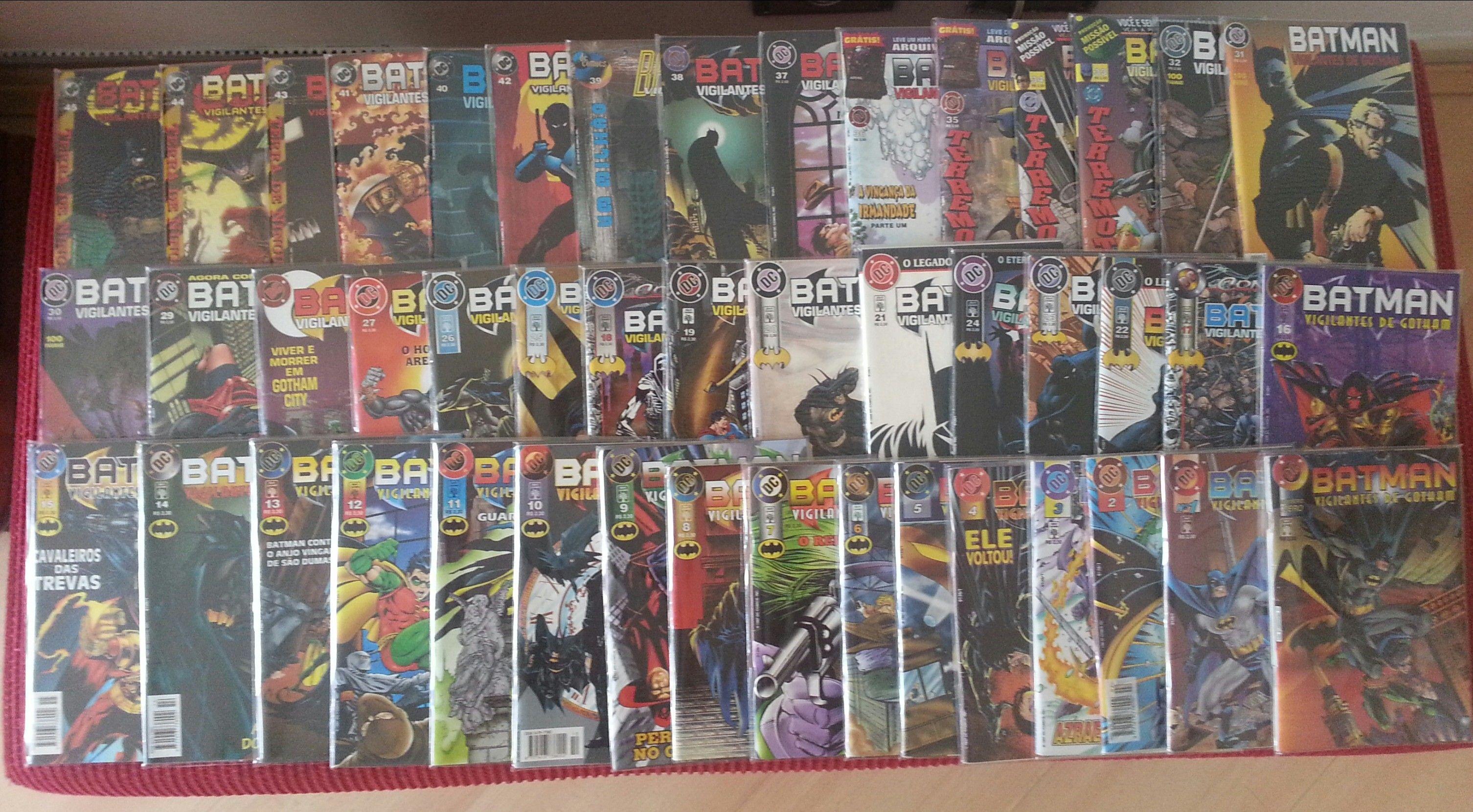Batman - Vigilantes de Gotham da Editora Abril. 46 Edições (0-45) De Out/1996 até Jul/2000.