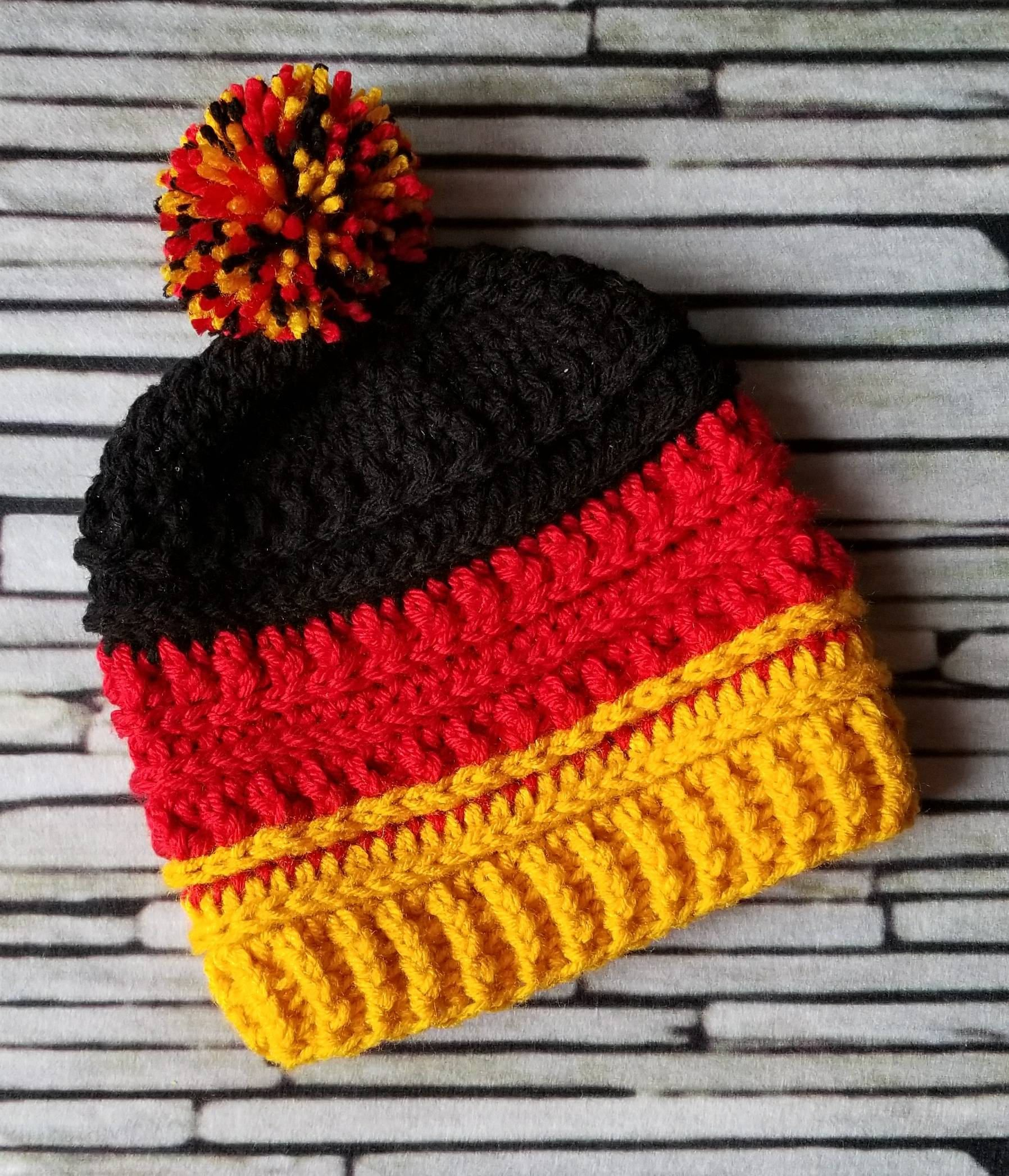 ed715bb3 German Flag Hat - Germany - Olympics beanie -striped country color ...