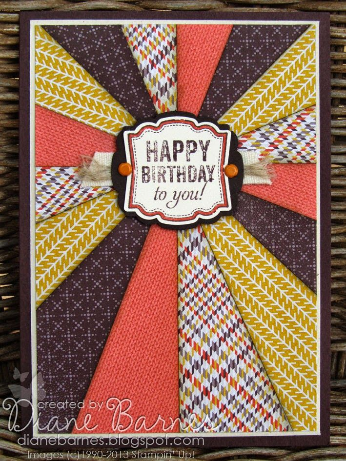 Sunburst Birthday Card For Guys Instructions Masculine Cards