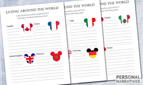 Epcot Passport Printable Eat Around The World Epcot Food Etsy In 2021 Epcot Disney Word Epcot Food