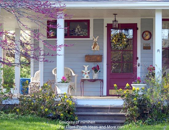 homey inspiration entry door ideas homes. Front doors  Colorful tulips lead to this pretty porch Porch Ideas and Decorating Spring door Burgers