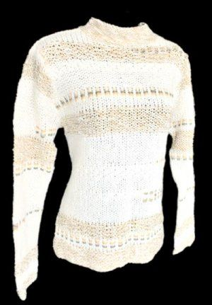 Coldwater Creek ribbon trim mohair blend sweater $11