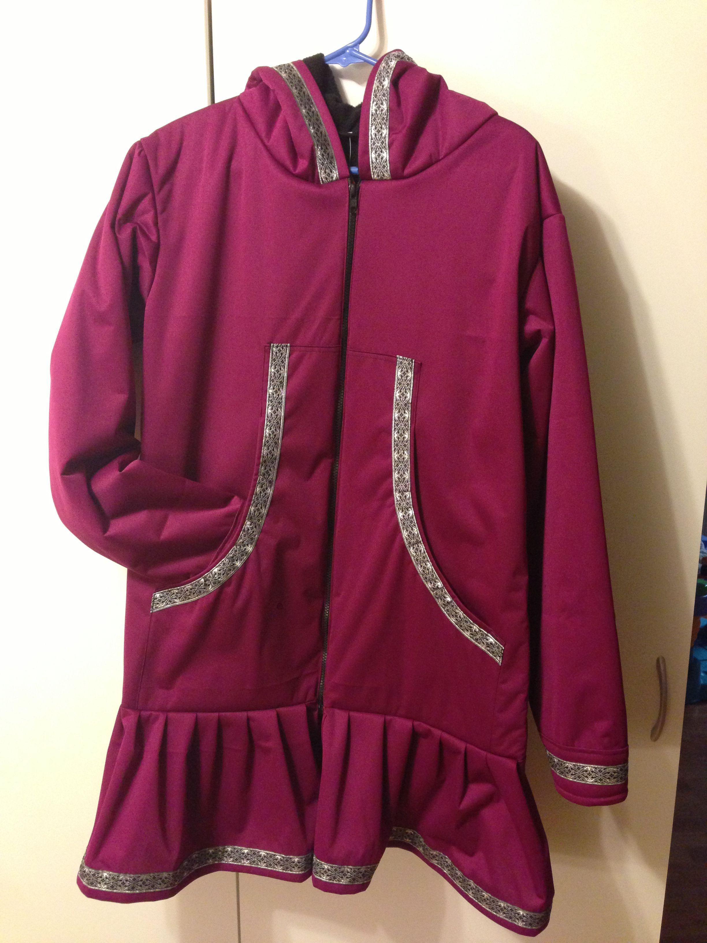 Ladies Fleece Lined Waterproof Kuspuk Special Order Clothes Athletic Jacket Hooded Jacket