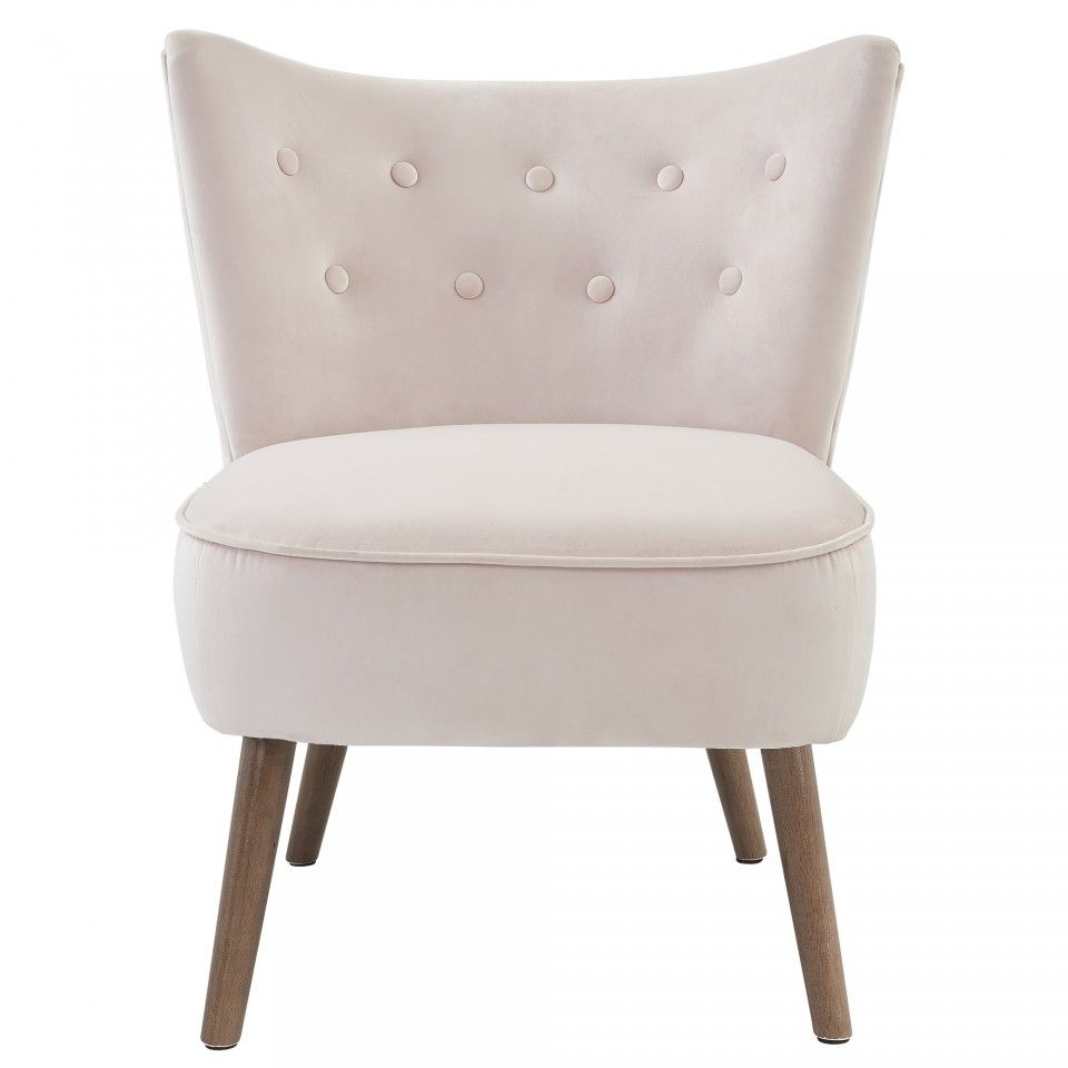 Elle Accent Chair In Blush 25 5 X 28 X 29 5 Quot H Accent