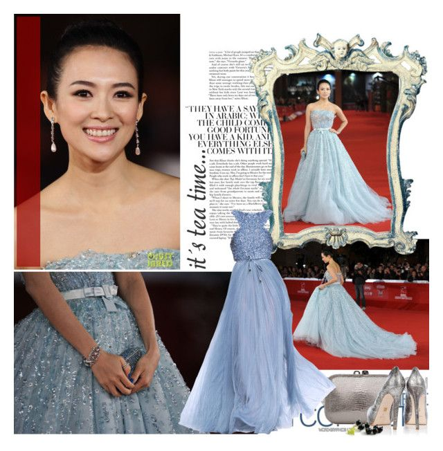 """Ziyi Zhang"" by asling ❤ liked on Polyvore featuring jared, KOTUR, Pour La Victoire and Elie Saab"
