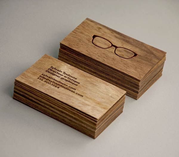 Sylvain Toulouse - Wooden Business Cards