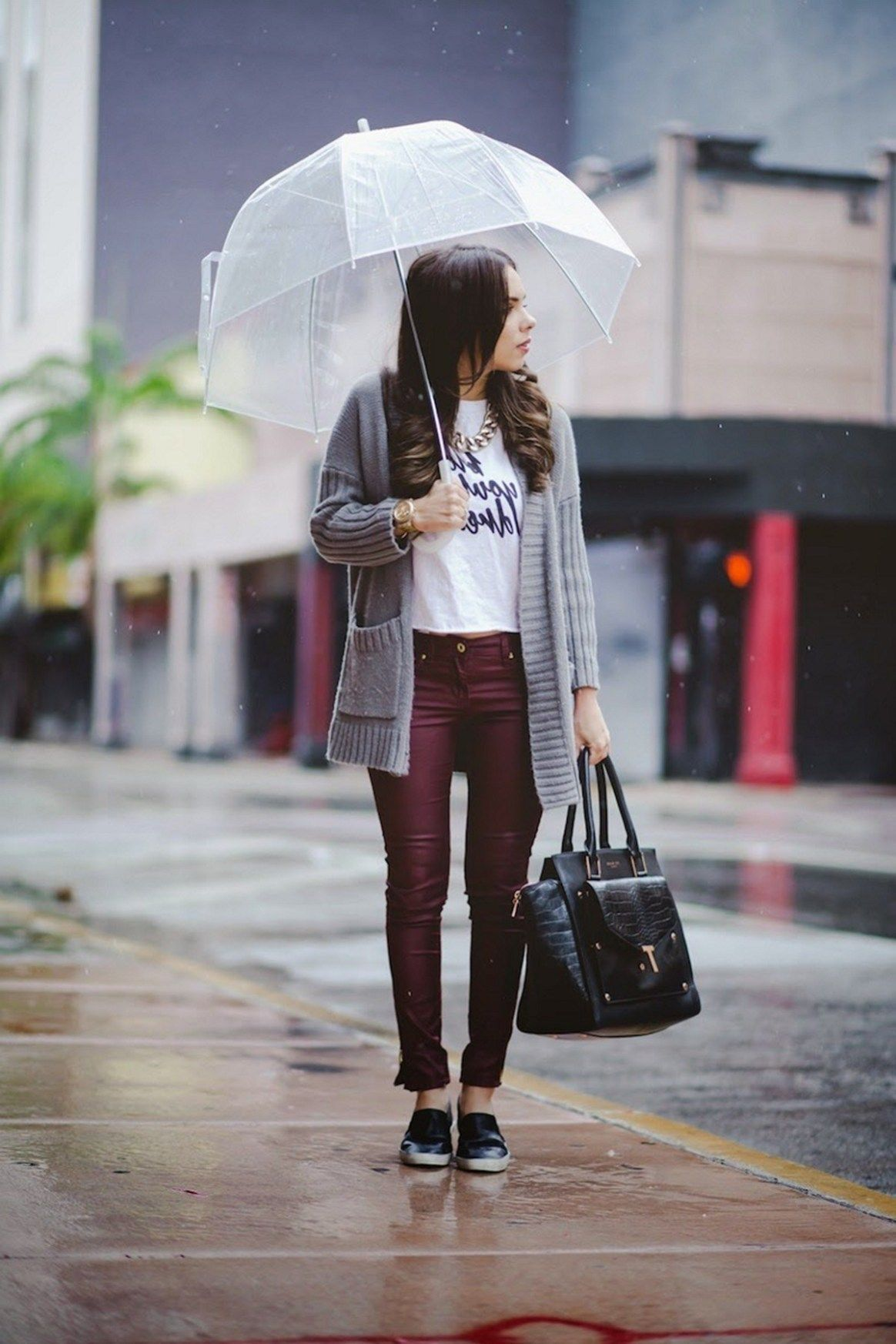 64 Rainy Day Cold Weather Outfit • DressFitMe #coldrainydayoutfit 64 Rainy Day...
