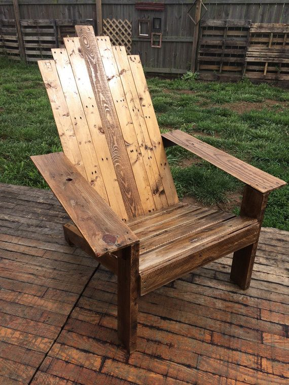 This Sleek And Rustic Wooden Adirondack Chair Is Beautiful And