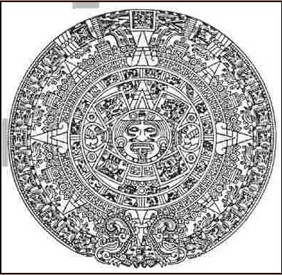 Coloring page Aztec calendar  img 29116  adult coloring pages