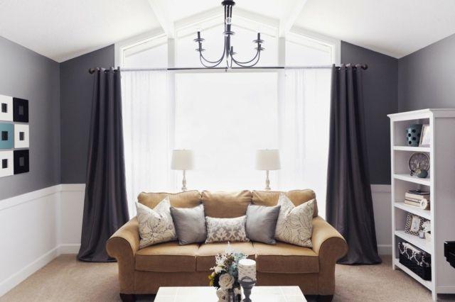 Spectacular Graue Wandfarben Wohnzimmer Dachschr ge wei e Decke