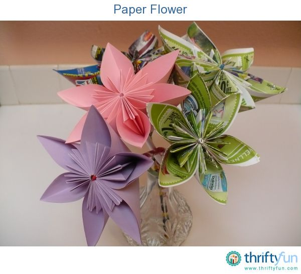 Paper flower simple origami flower simple origami and origami this is a simple origami flower made from paper kids can make this with their mightylinksfo