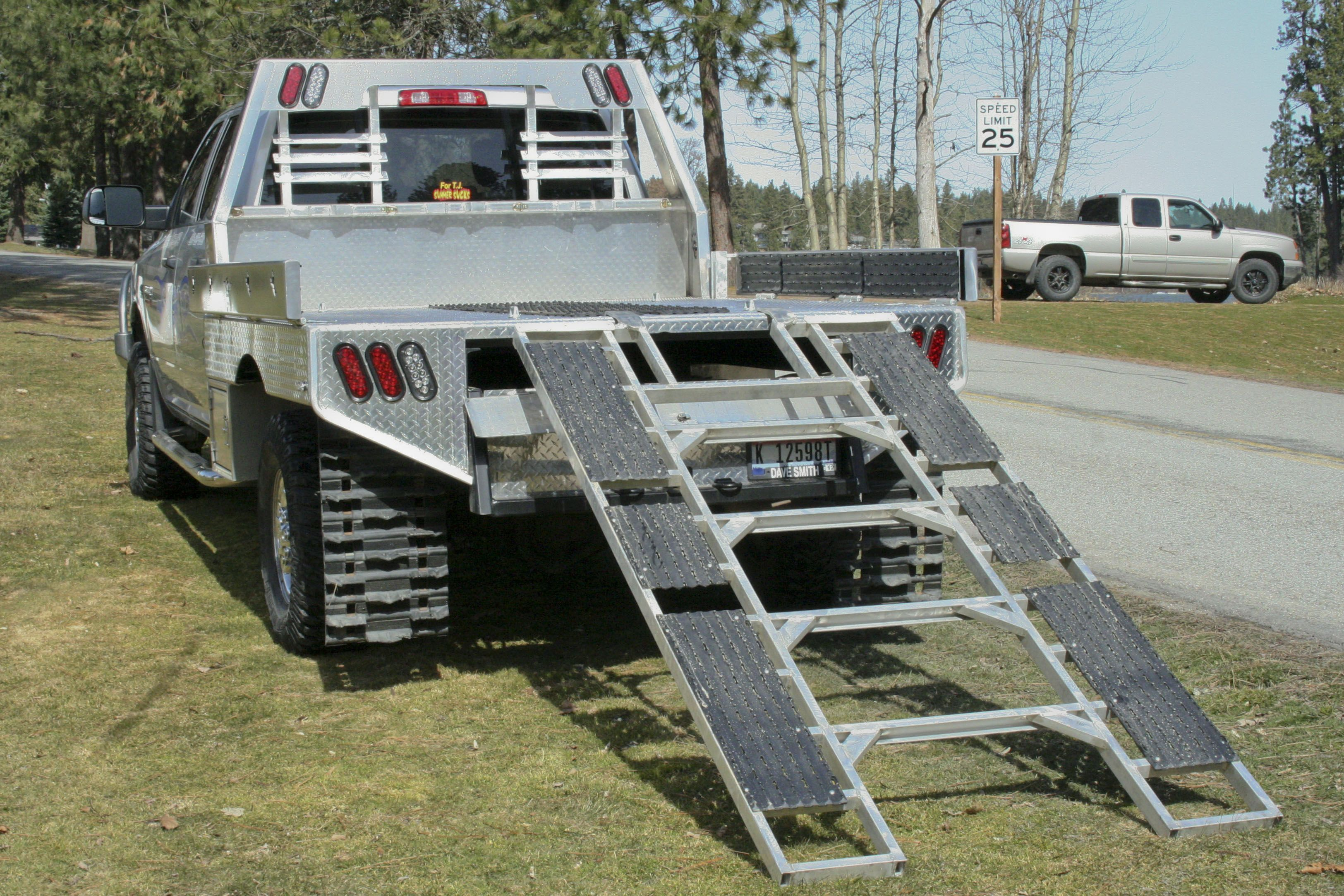 Need to put this flatbed on my truck snowmobiles