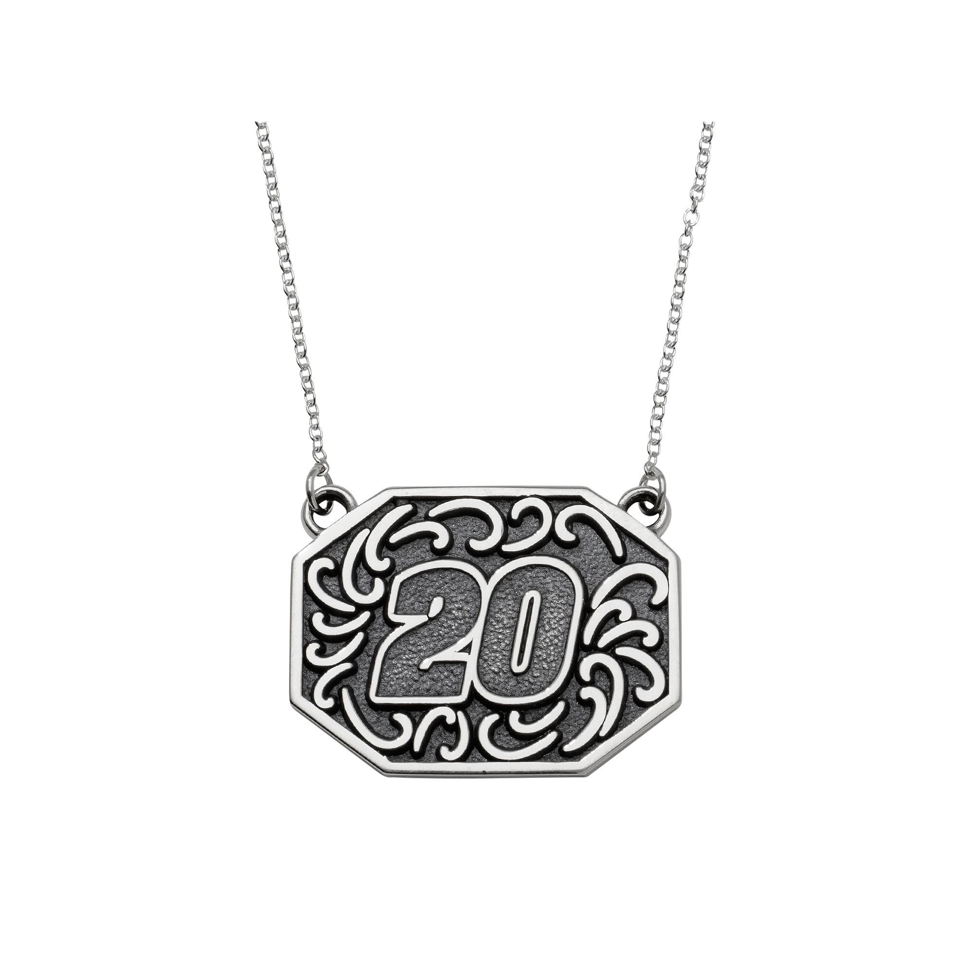 "Insignia Collection Nascar Matt Kenseth Stainless Steel ""20"" Pendant, Women's, Size: 18"", Grey"