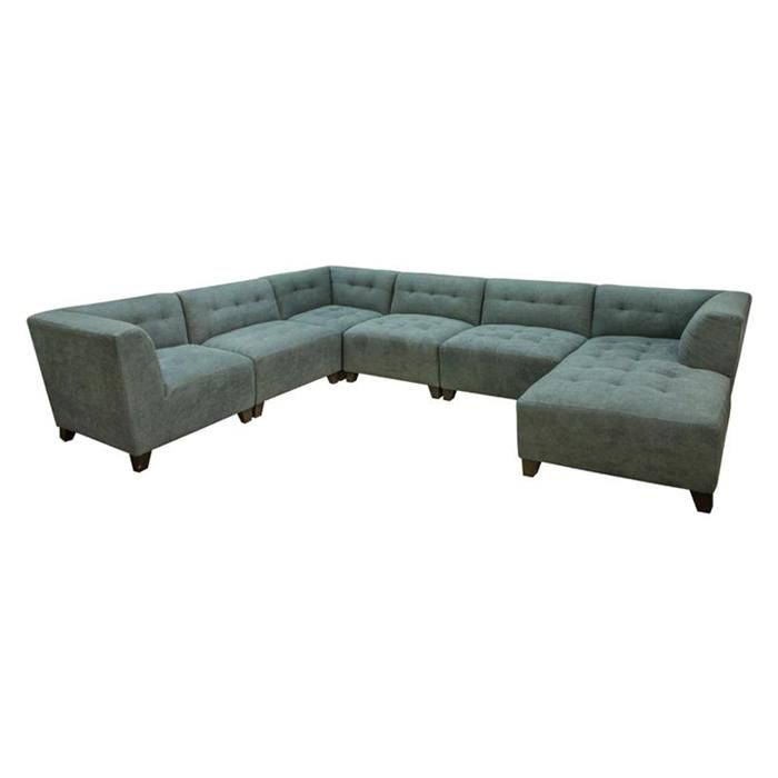 Best Belaire 6 Piece Modular Sectional In Caprice Cerulean 400 x 300