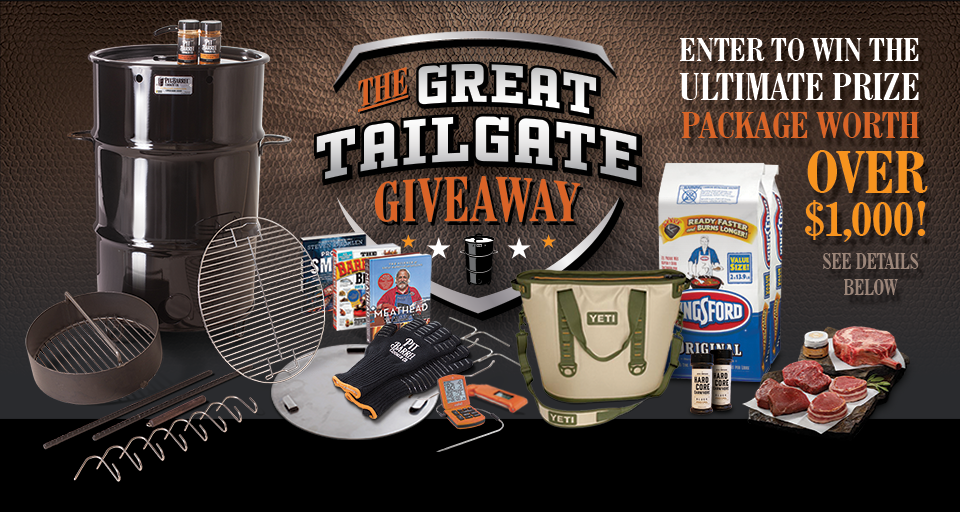 Food and Drink Sweepstakes Tailgate giveaways, Pit