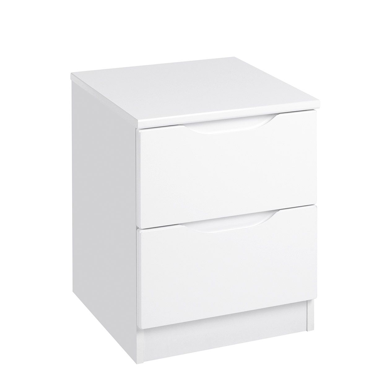 Best Torino Quality Fully Assembled White Gloss 2 Drawer 400 x 300
