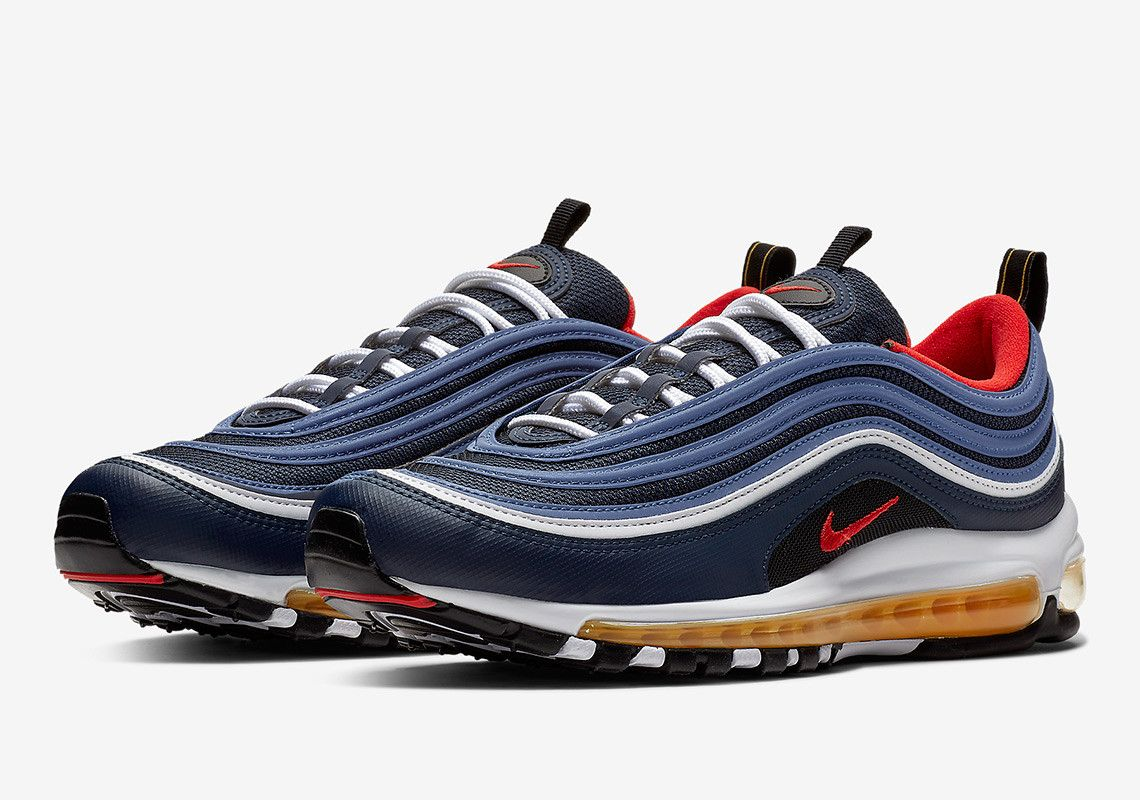Buty sneakers Nike Air Max 97 midnight navy habanero red
