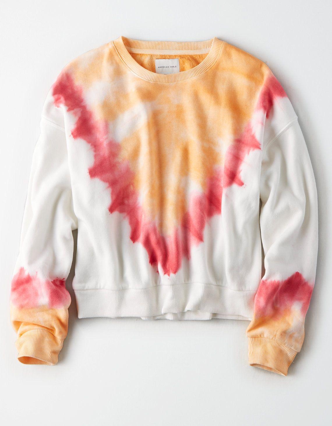 Ae Tie Dye Crew Neck Sweatshirt Graphic Crew Neck Sweatshirts Tie Dye Crew Neck Sweatshirt [ 1462 x 1140 Pixel ]