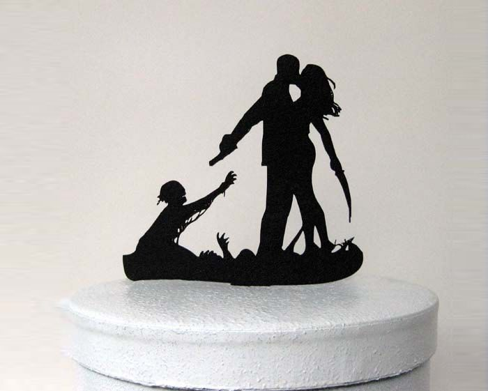 Halloween Silhouette Wedding Cake Toppers From Plasticsmith Halloweenweek