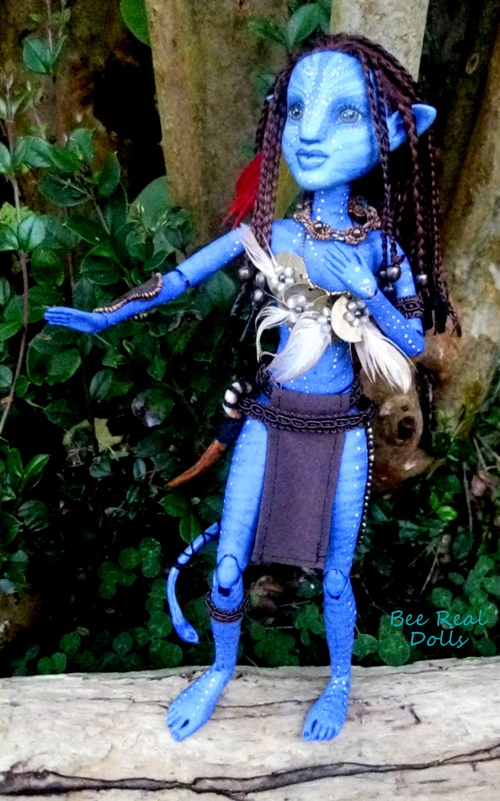 Avatar character doll, art doll, OOAK  This is a doll based