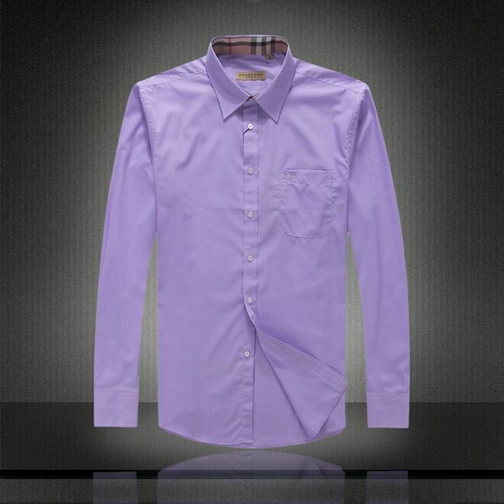 022f3f6dff Burberry Mens Dress Shirts Purple | Burberry Dress Shirts | Shirts ...