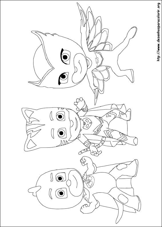 Photo of PJ Masks para colorir