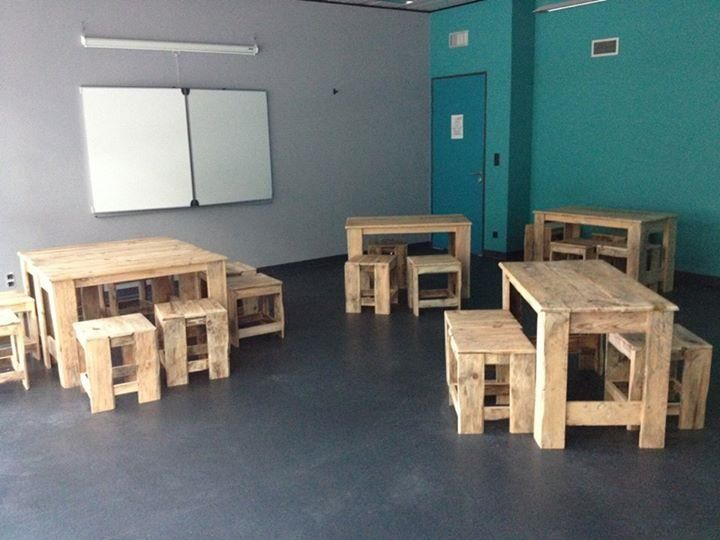 DIY Pallet Classroom Furniture Built To Last | 99 Pallets