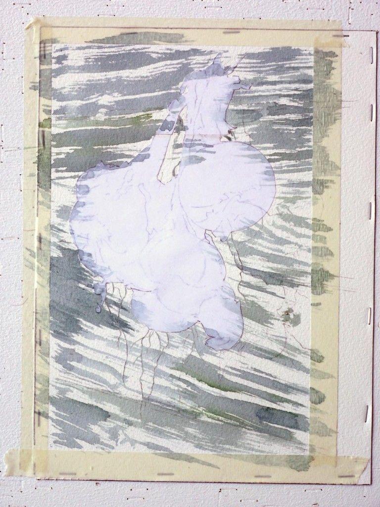 08 1er Lavis Sur Bois Kartiny Akvarelyu Abstraktnye Kartiny