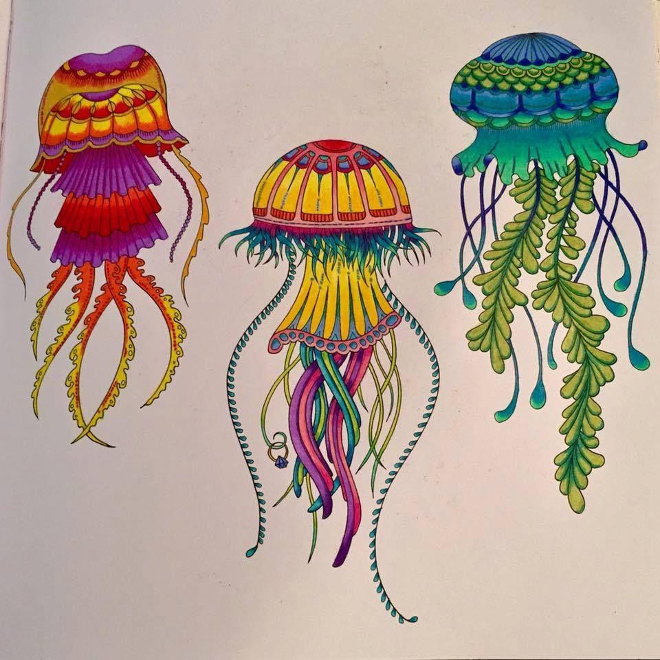 Jellyfish Inspirational Coloring Pages Inspiracao Coloringbooks Livrosdecolorir Jardimsecreto Secr Livro De Colorir Jardim Secreto Colorir Arte Em Mosaico