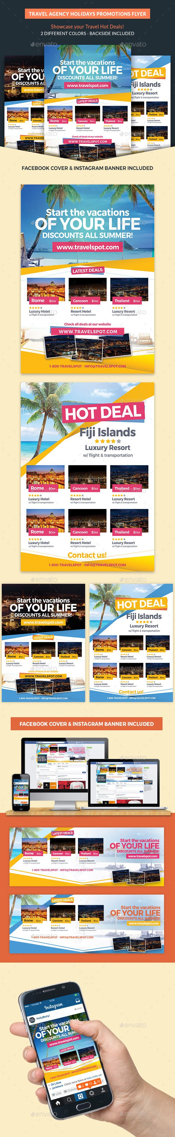 Travel Agency Holidays Promotion Flyer  Flyer Template Promotion