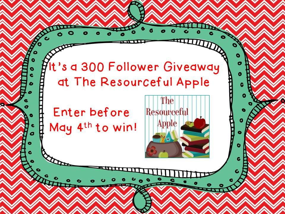 The Resourceful Apple: 300 Follower Giveaway