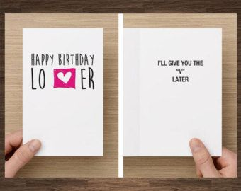 Naughty Birthday Card For Boyfriend Husband By Diamonddonatello