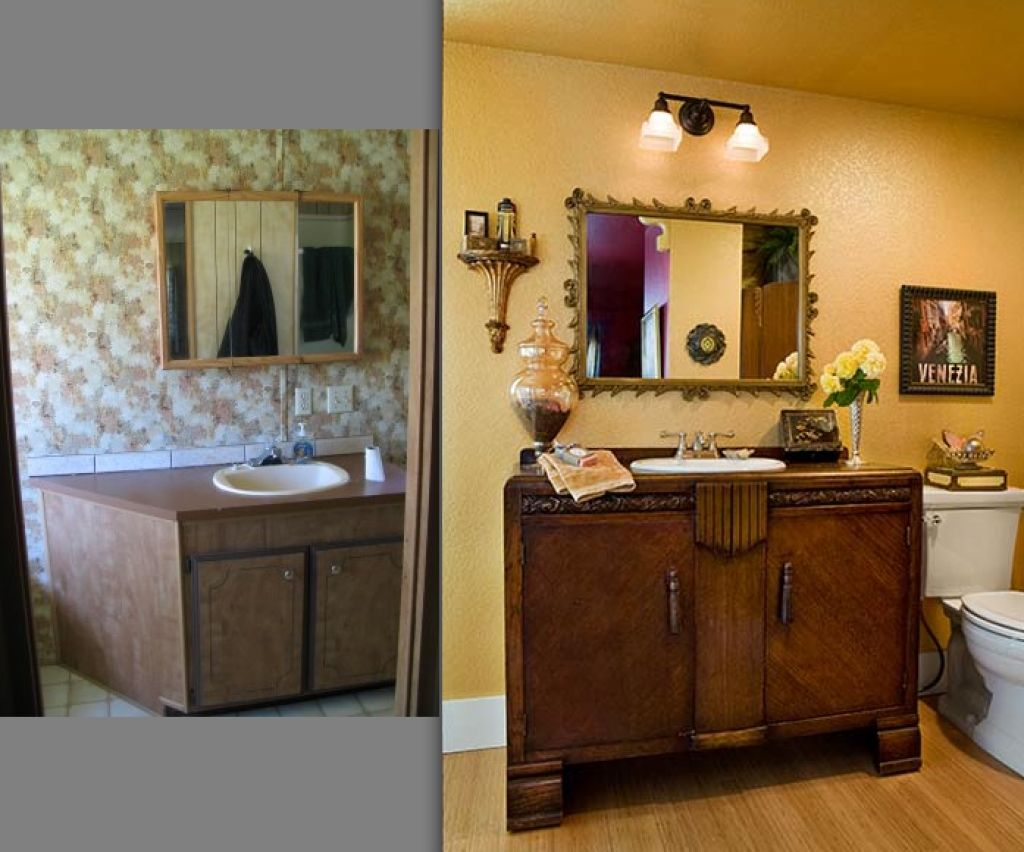 Innenraum Mobilheim Mobel Manufactured Home Remodel Remodeling Mobile Homes Mobile Home Bathrooms