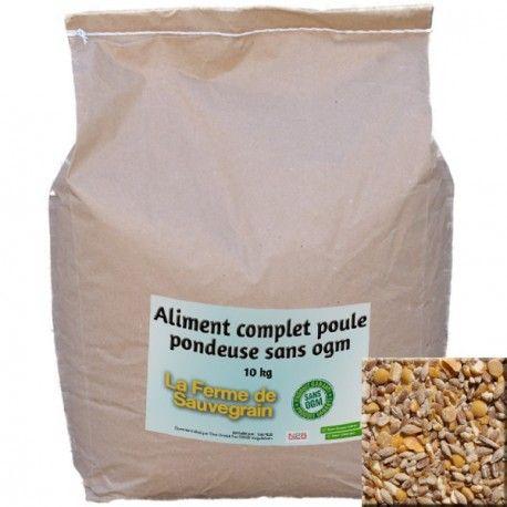 Une Idée pour nos animaux :  Aliment complet poule pondeuse sans OGM - 10 kg Mélange de céréales sans OGM, ni colorant ni conservateur. Contient du blé, orge, maïs, soja, colza, lin. Produit en France http://www.lafermesauvegrain.com/alimentation-poules-bio-sans-ogm/162-aliment-complet-poule-pondeuse-sans-ogm-10-kg.html