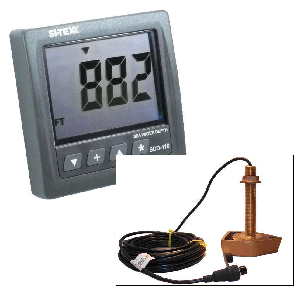 Si Tex Sdd 110 Seawater Depth Indicator W Bronze Thru Hull Sitex Transducer Wiring Diagram Colors