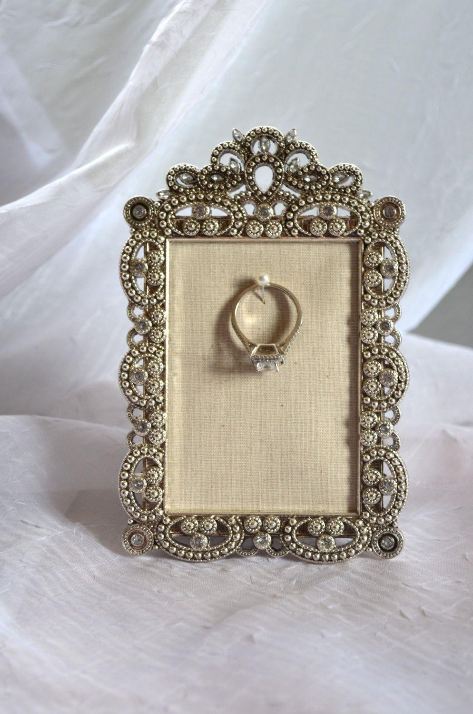 Engagement & Wedding Ring Picture Frame Ring Holder-2.5\