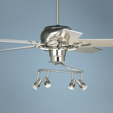52 Casa Optima Brushed Steel 4 Head Light Kit Ceiling Fan