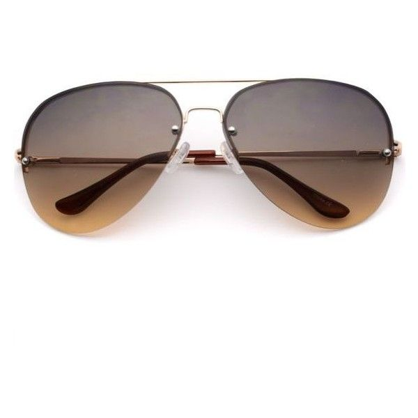 oversized womens aviator sunglasses  Victoria Oversized Rimless Aviator Sunglasses for Women 鉂? liked ...
