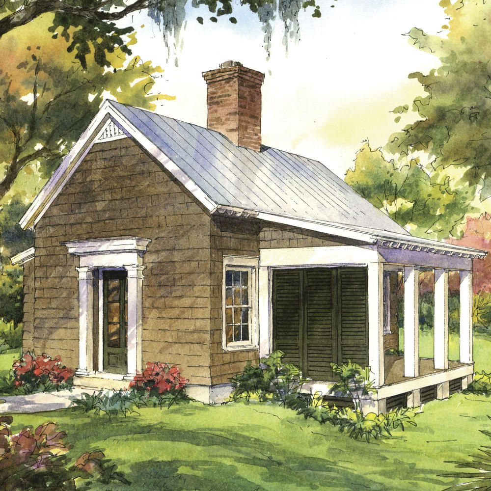 This One Bedroom House Plan Is Perfect For Retirement Guest House Plans Backyard Cottage One Bedroom House