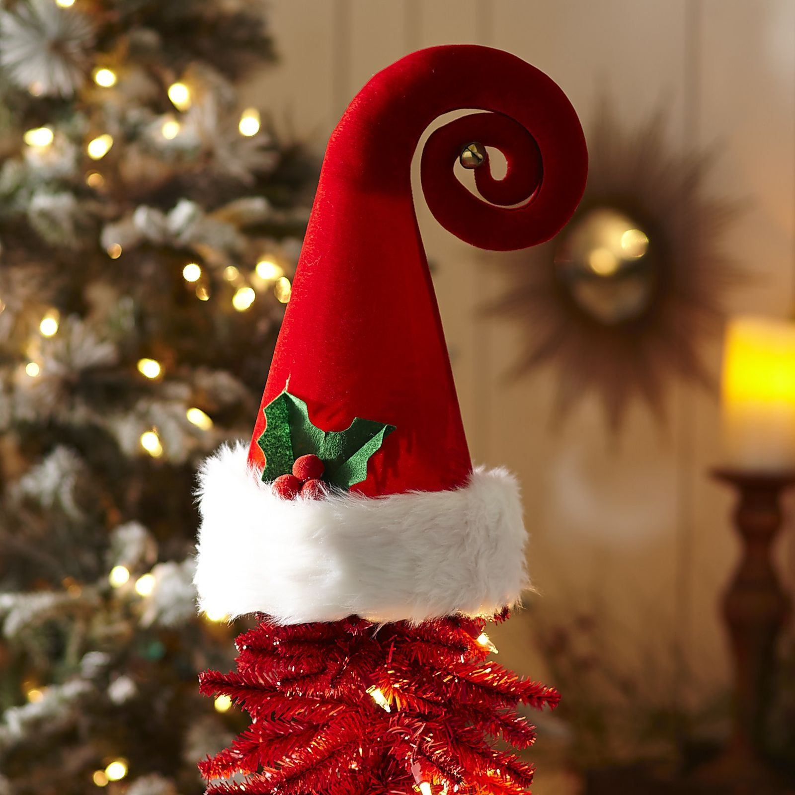 Santa Hat Christmas Tree Topper: Santa Claus Hat Tree Topper