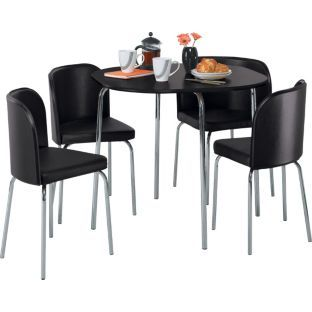 Buy Hygena Amparo Black Dining Table And 4 Black Chairs At Argos Co Uk