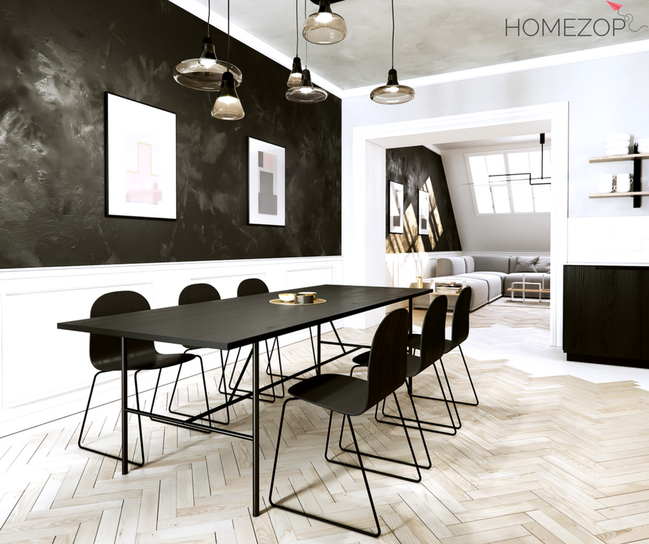 Rich Black Shade Far From Being Dry And Depressingit Can Bring A Alluring Black And White Dining Room Inspiration