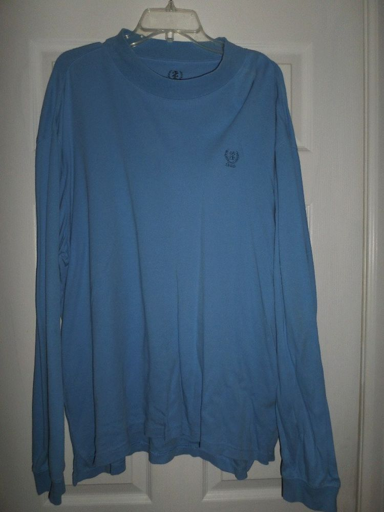 Men's Blue IZOD Turtleneck Pull Over Long Sleeve Sweater Shirt, Size XXL, GUC #IZOD #Turtleneck