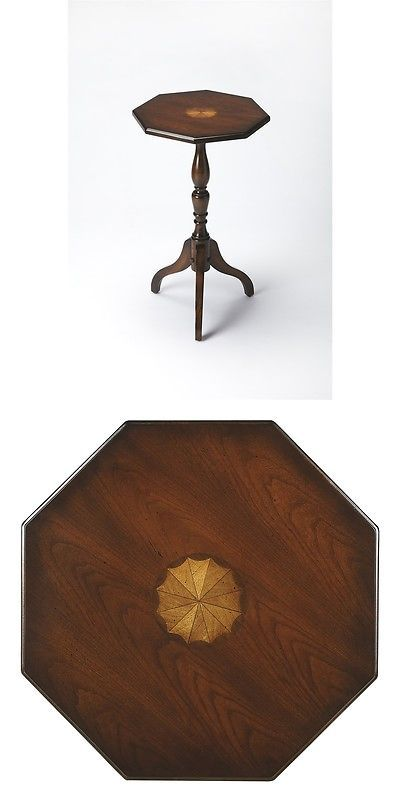 Other Handcrafted Home Accents 160657: Butler Archambault Plantation Cherry Octagonal  Pedestal Table, Plantation.