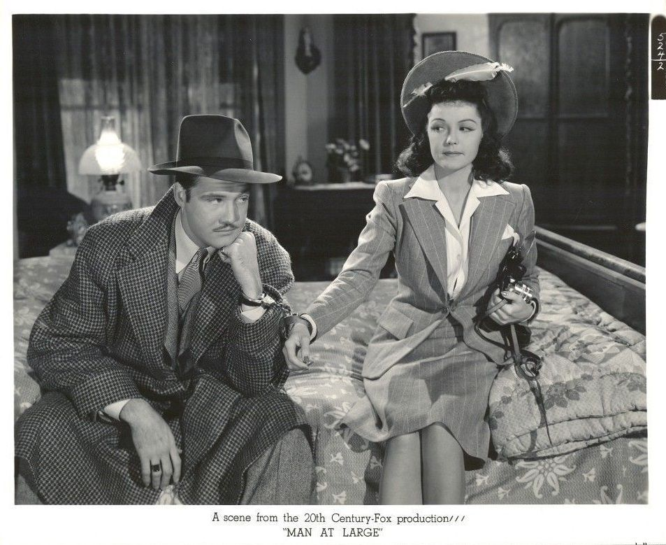 George Reeves & Majorie Weaver, in 20th Century Fox Production, Man At Large, 1941