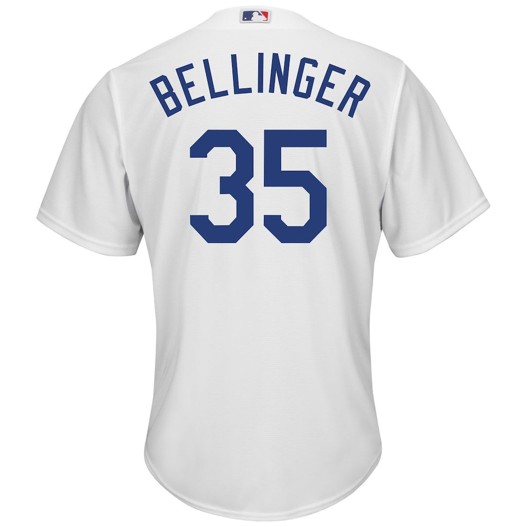 897536e1 Men's Los Angeles Dodgers Bellinger 35 Jersey, Size: Small, White in ...