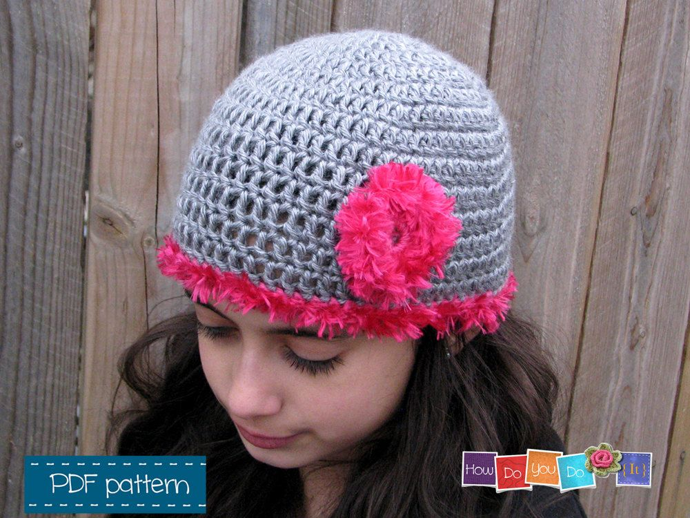 Crochet Hat For Girl Pattern Photo Tutorial Beanie For Girl With
